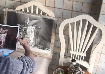 山东水木源画室素描调子揉擦的三种工具与方法